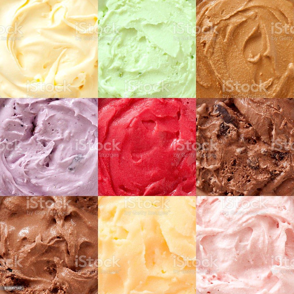 Ice creams composition stock photo