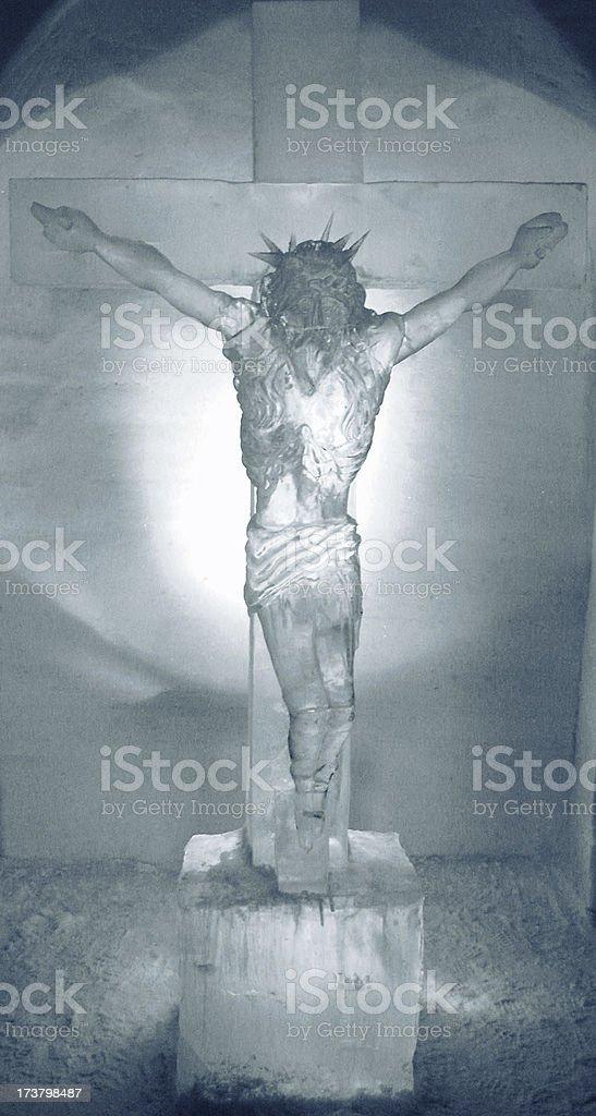 Ice crucifix royalty-free stock photo