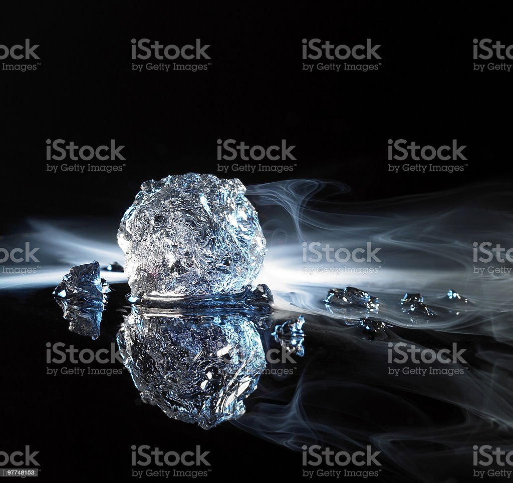 ice crystal piece stock photo