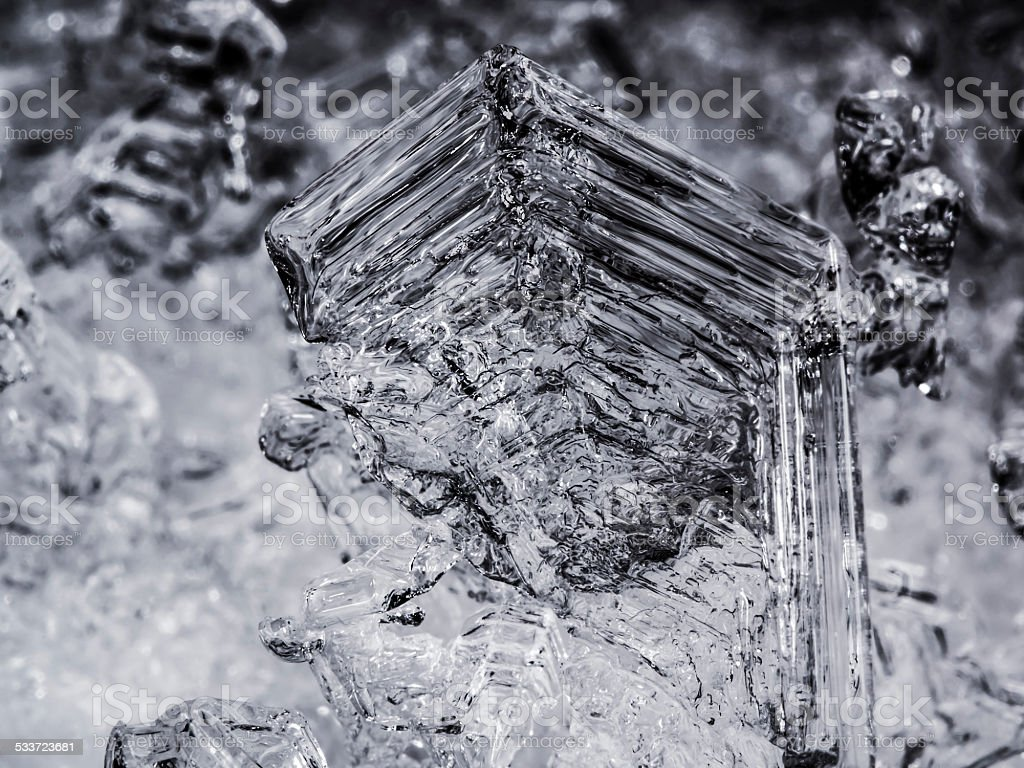 Ice Crystals 10x Magnification stock photo