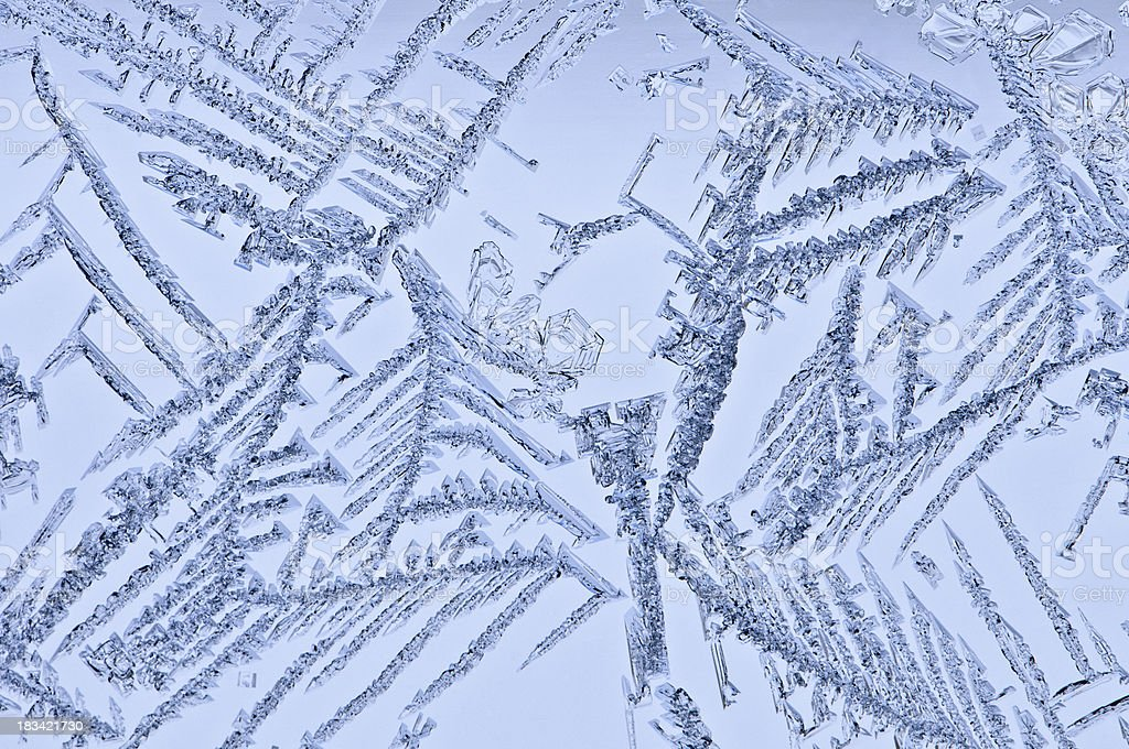 Ice Crystals in Winter royalty-free stock photo