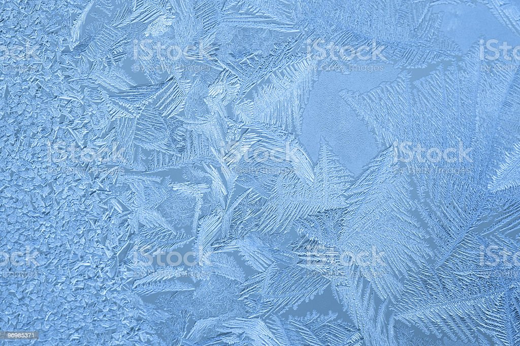 Ice crystals on the window royalty-free stock photo
