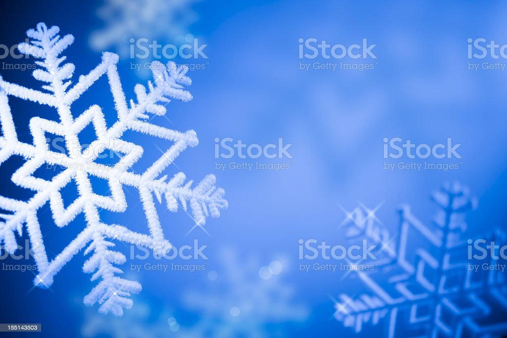Ice Crystals - Winter Background royalty-free stock photo