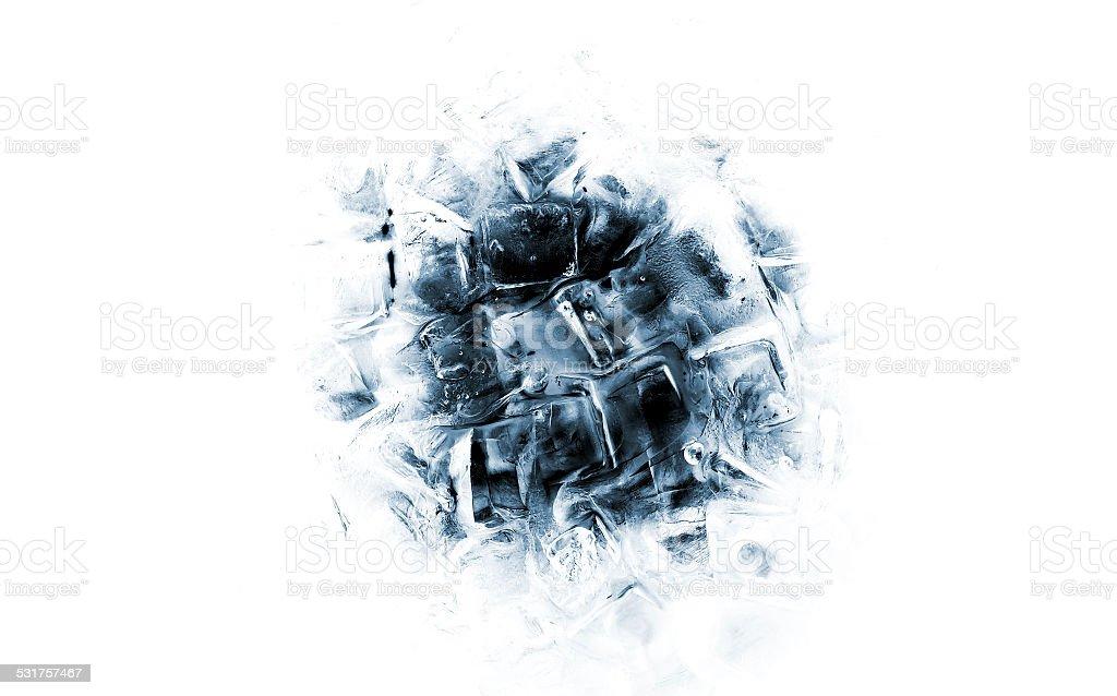 Ice cube background stock photo