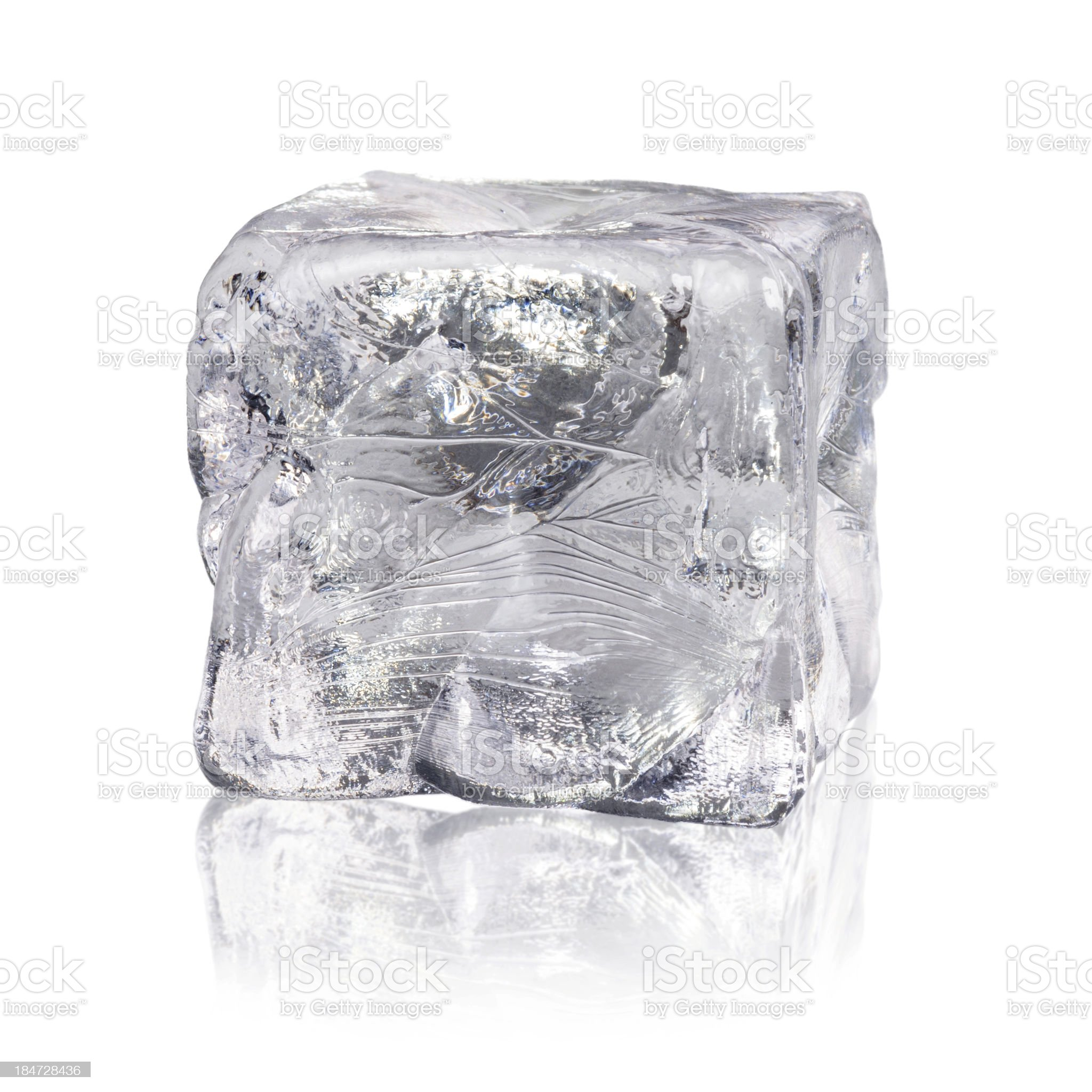 ice cube before white background royalty-free stock photo