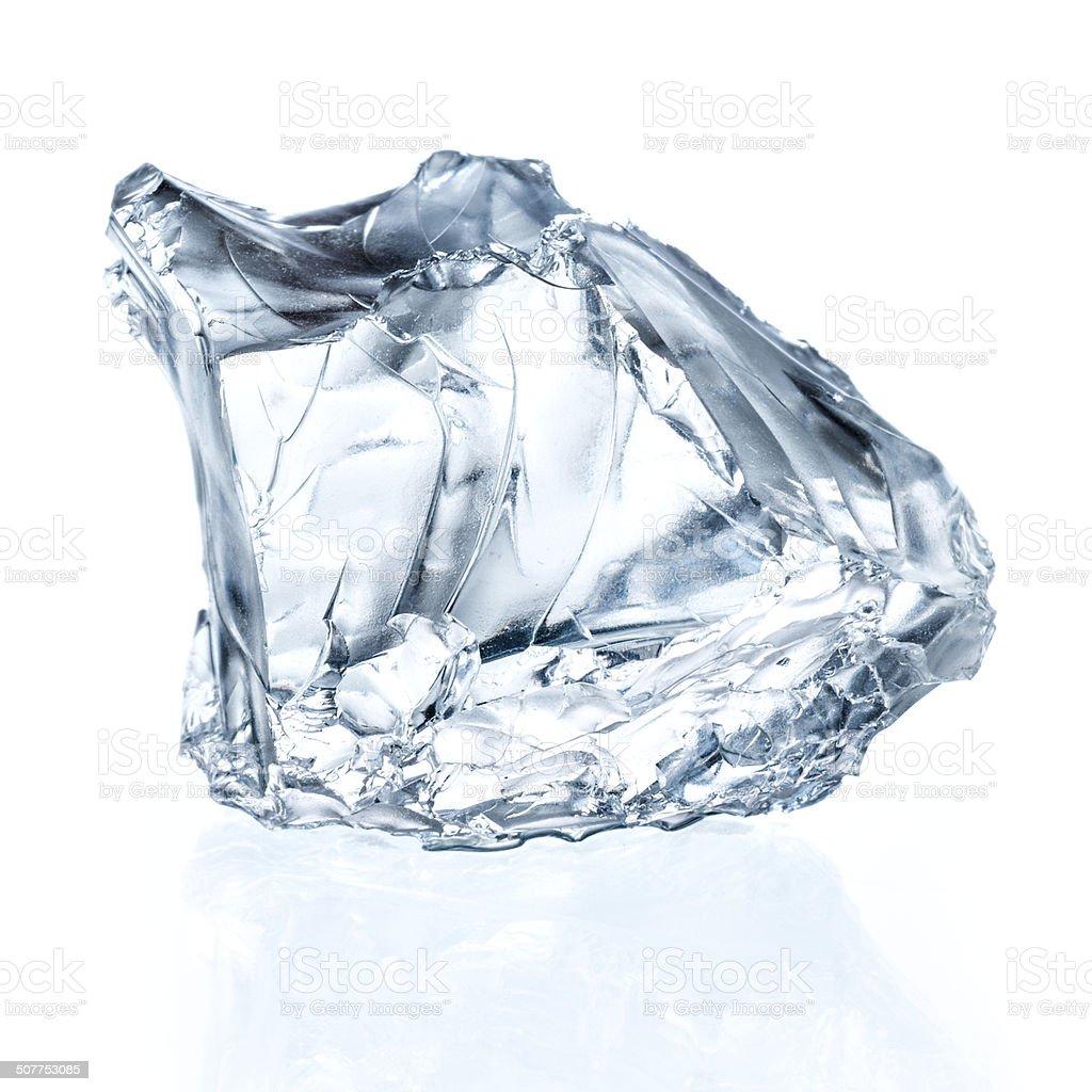 Ice cube isolated on white. stock photo