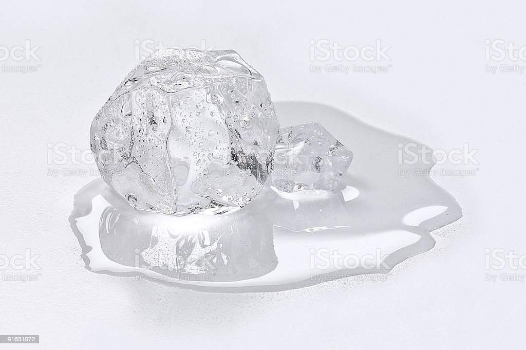 Ice Cube Melting stock photo