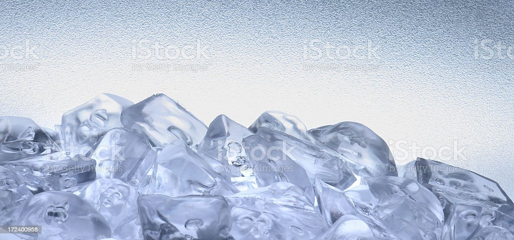 Ice cube mountain royalty-free stock photo