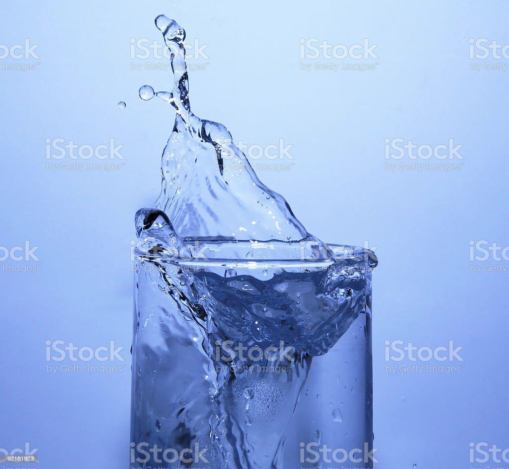 Ice Cube Splash royalty-free stock photo