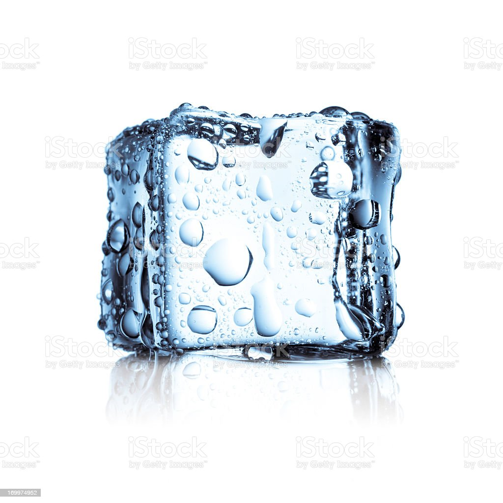 Ice Cube - Water frozen cold fresh stock photo