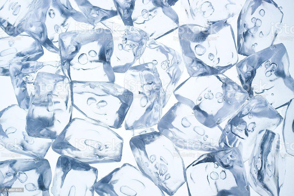 Ice cubes background royalty-free stock photo