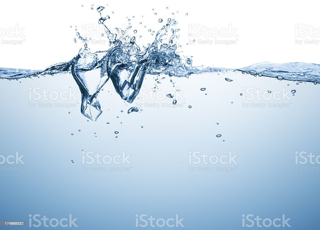 Ice cubes drowning royalty-free stock photo