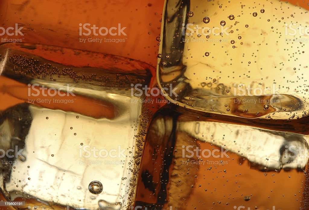 Ice cubes in a glass - close up stock photo