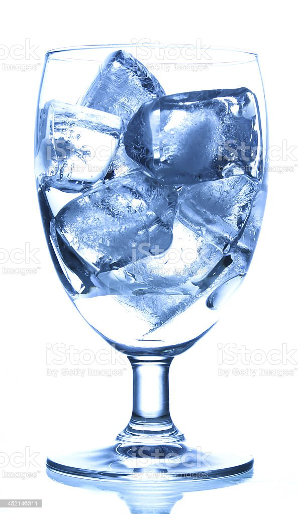 ice cubes in glass royalty-free stock photo