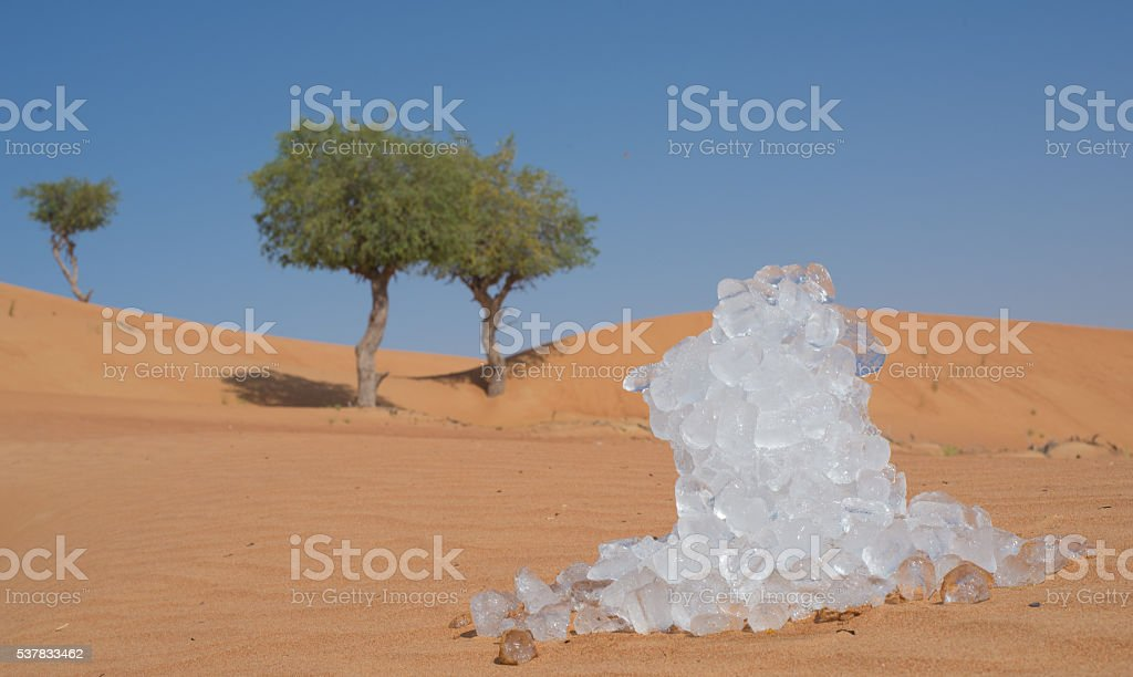 Ice Cubes in the Desert stock photo
