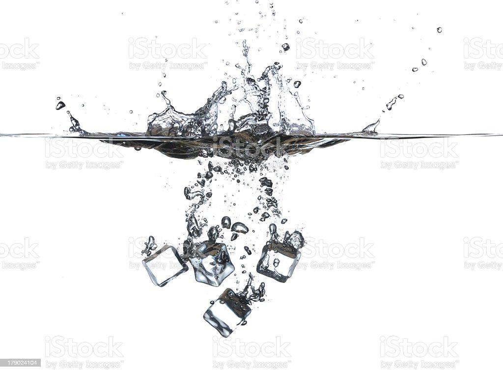 Ice cubes in water royalty-free stock photo