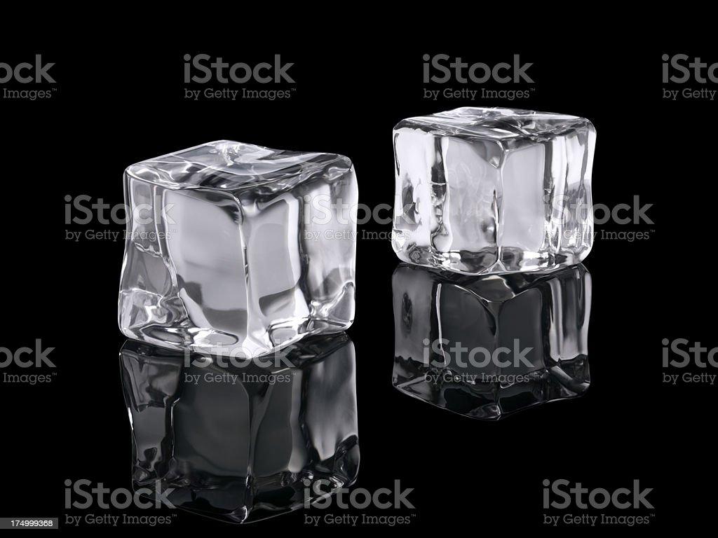 Ice Cubes Isolated On Black royalty-free stock photo