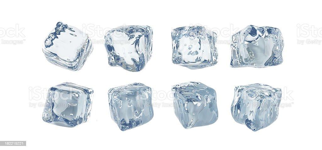 Ice cubes isolated on white background royalty-free stock photo