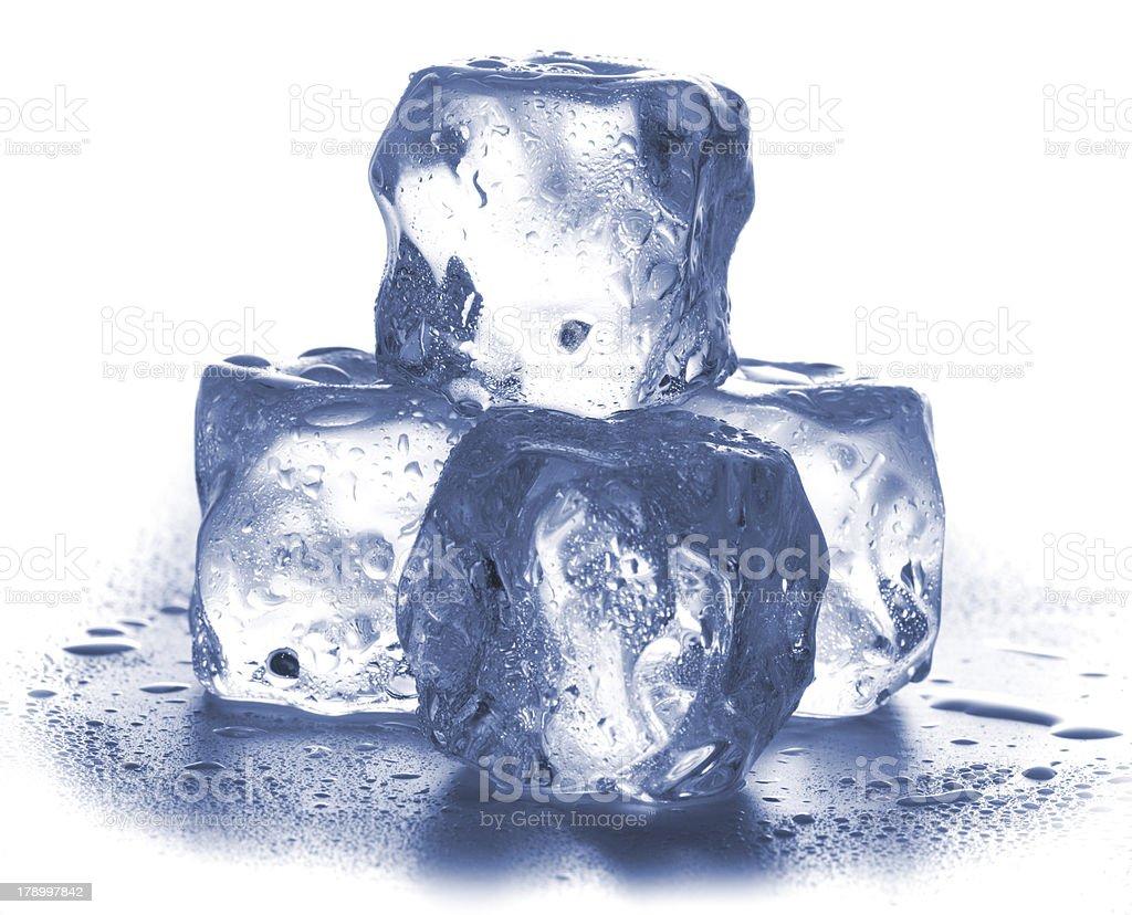 Ice cubes isolated on white. royalty-free stock photo