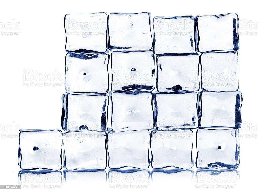 ice cubes isolated on white royalty-free stock photo