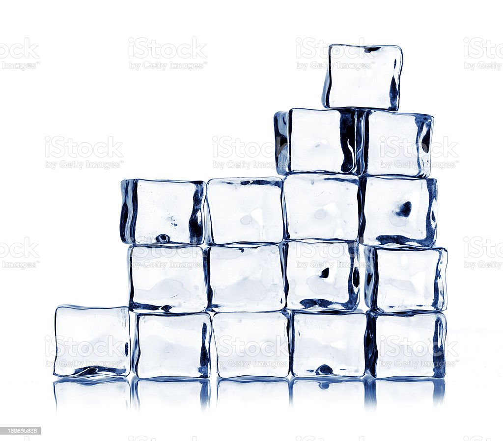 ice cubes isolated on white royalty-free stock photo