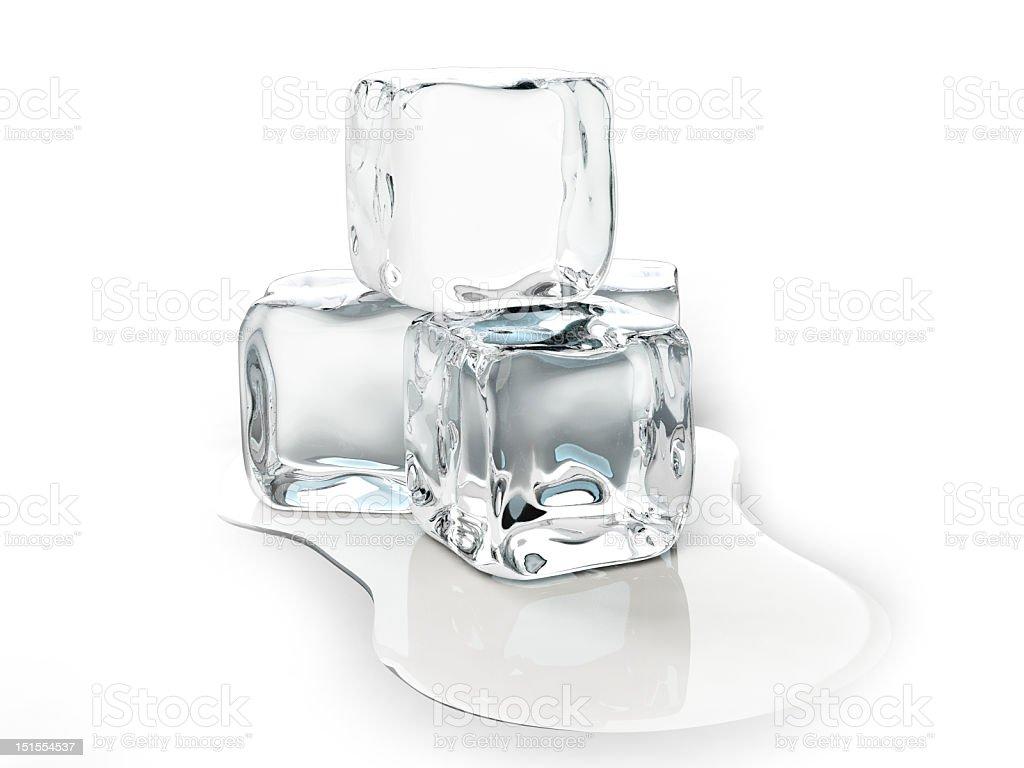 Ice cubes melting stock photo