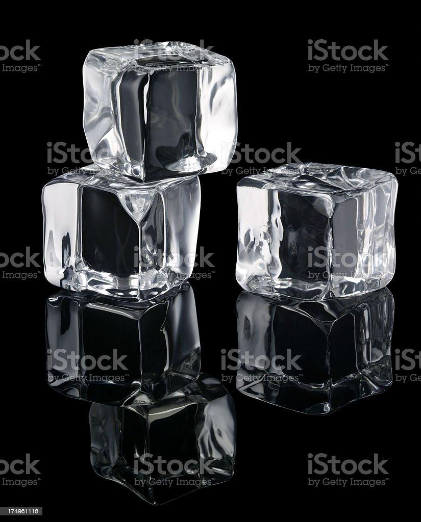 Ice Cubes On Black XXXL royalty-free stock photo