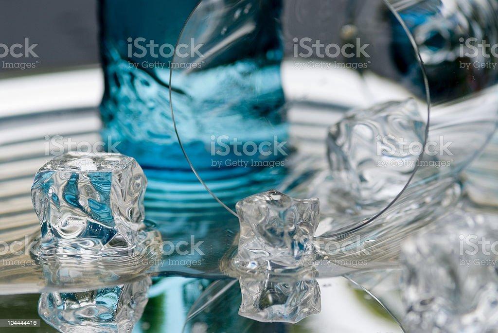 Cubetti di ghiaccio foto stock royalty-free