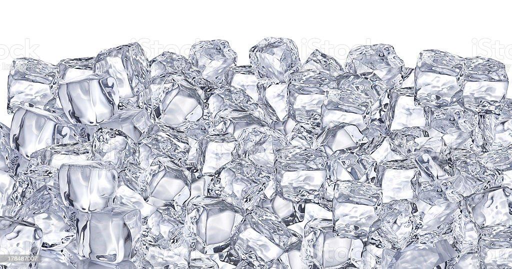 Ice cubes. stock photo