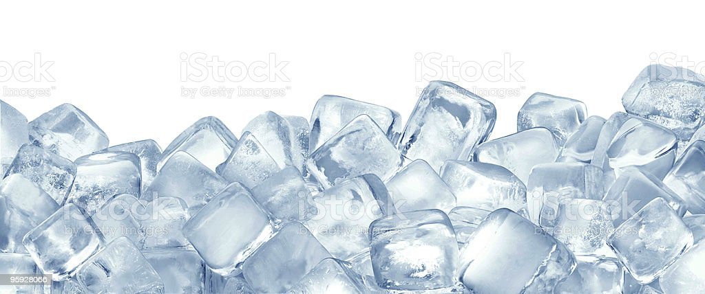 Ice cubes stock photo