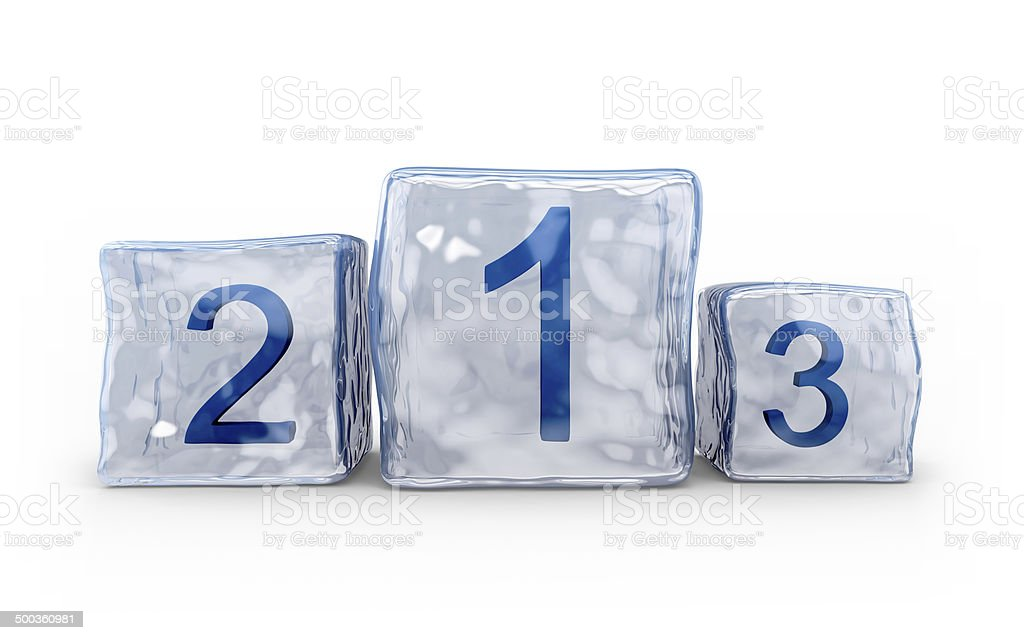 Ice cubes podium royalty-free stock photo