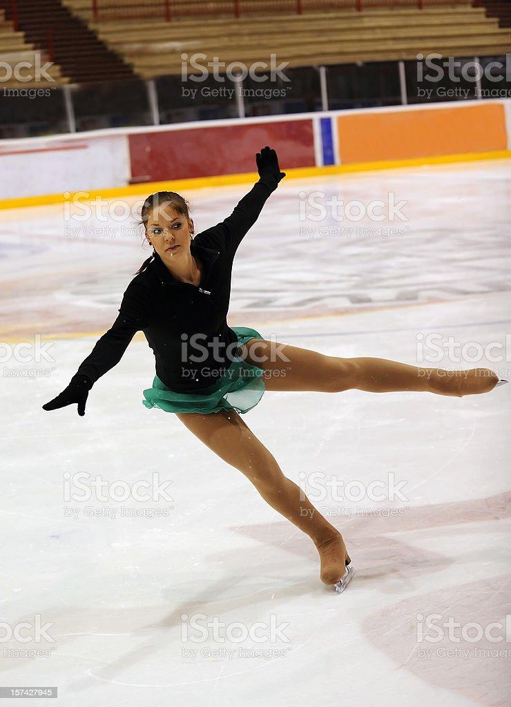 Ice dancing stock photo