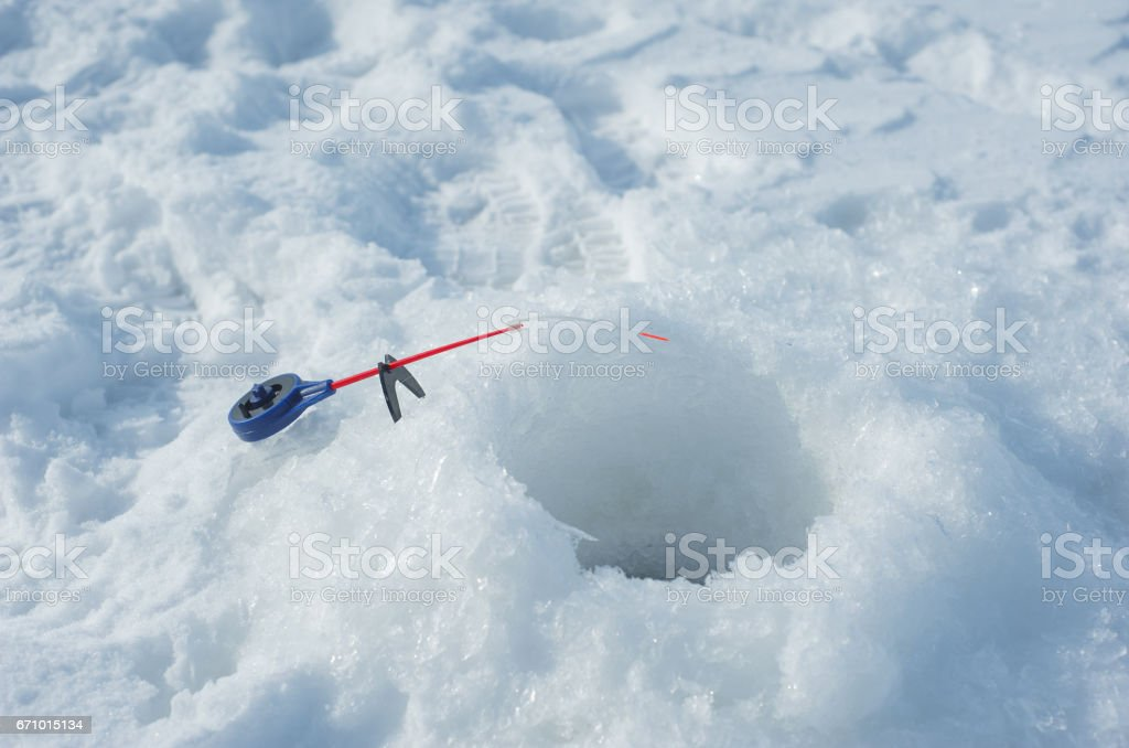 Ice drill with rod stock photo