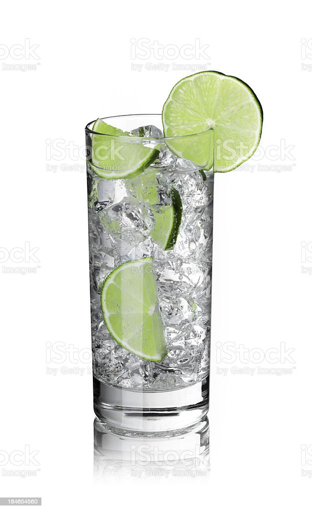 Ice drink with limes stock photo