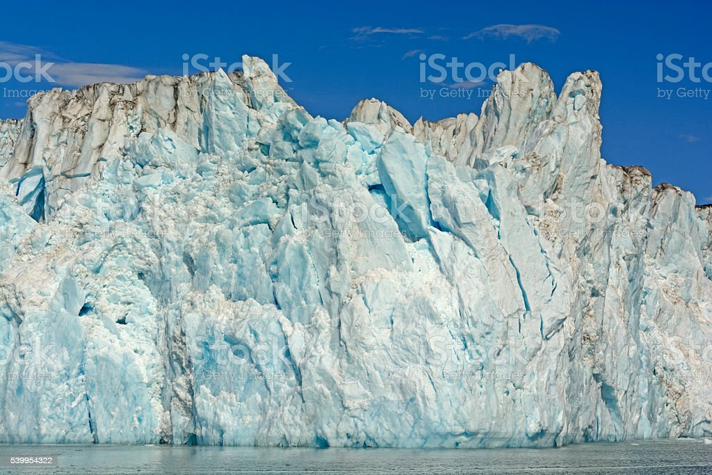 Ice Face of a Tidewater Glacier stock photo