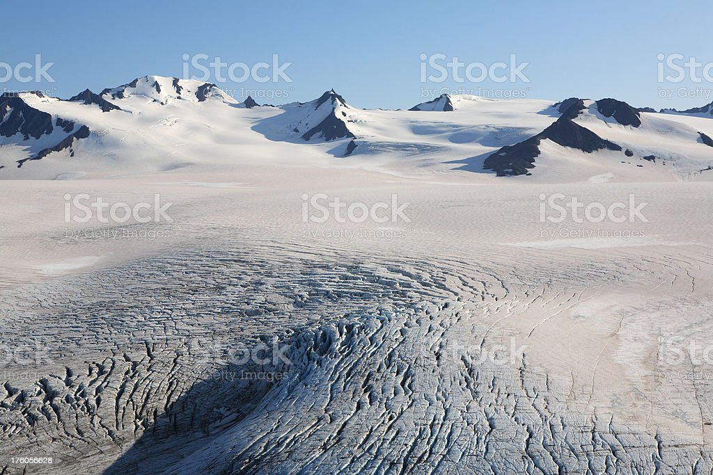 ice field and peaks royalty-free stock photo