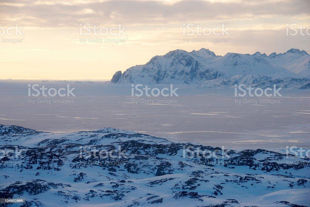 Ice field royalty-free stock photo