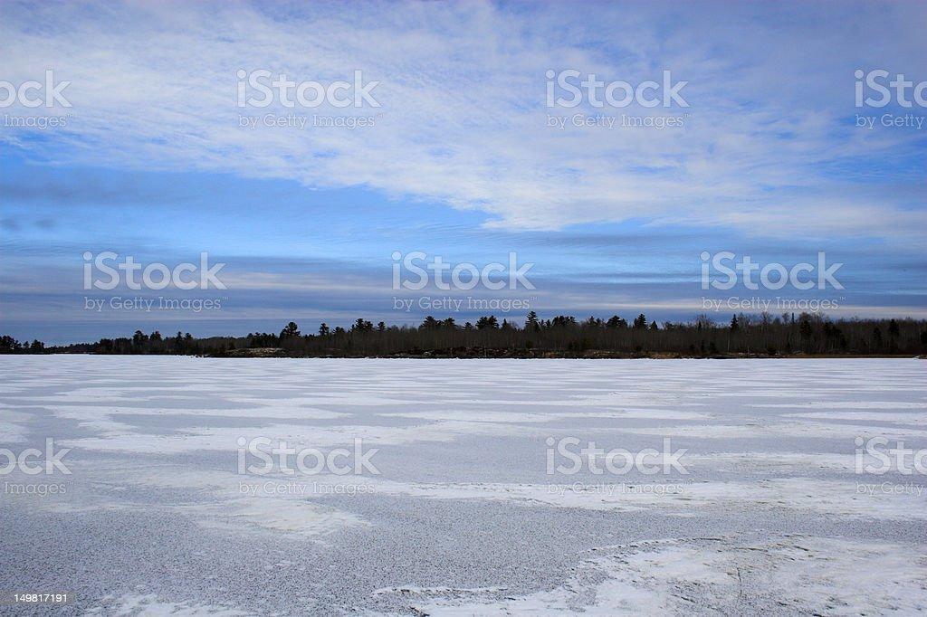 Ice field stock photo