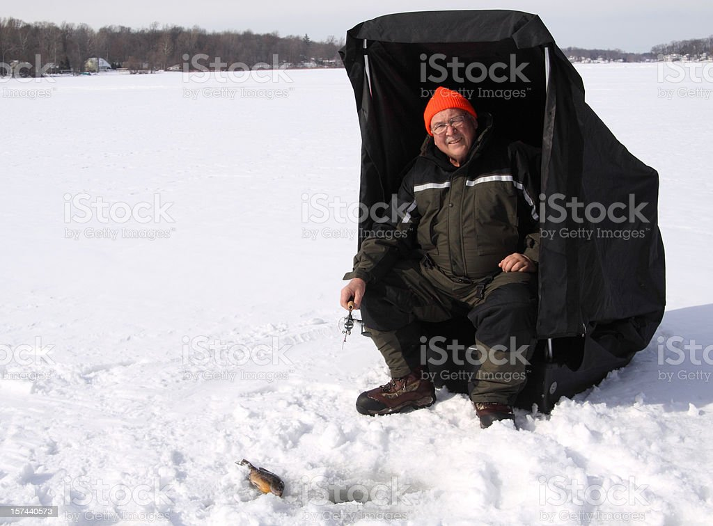 Ice Fishing royalty-free stock photo