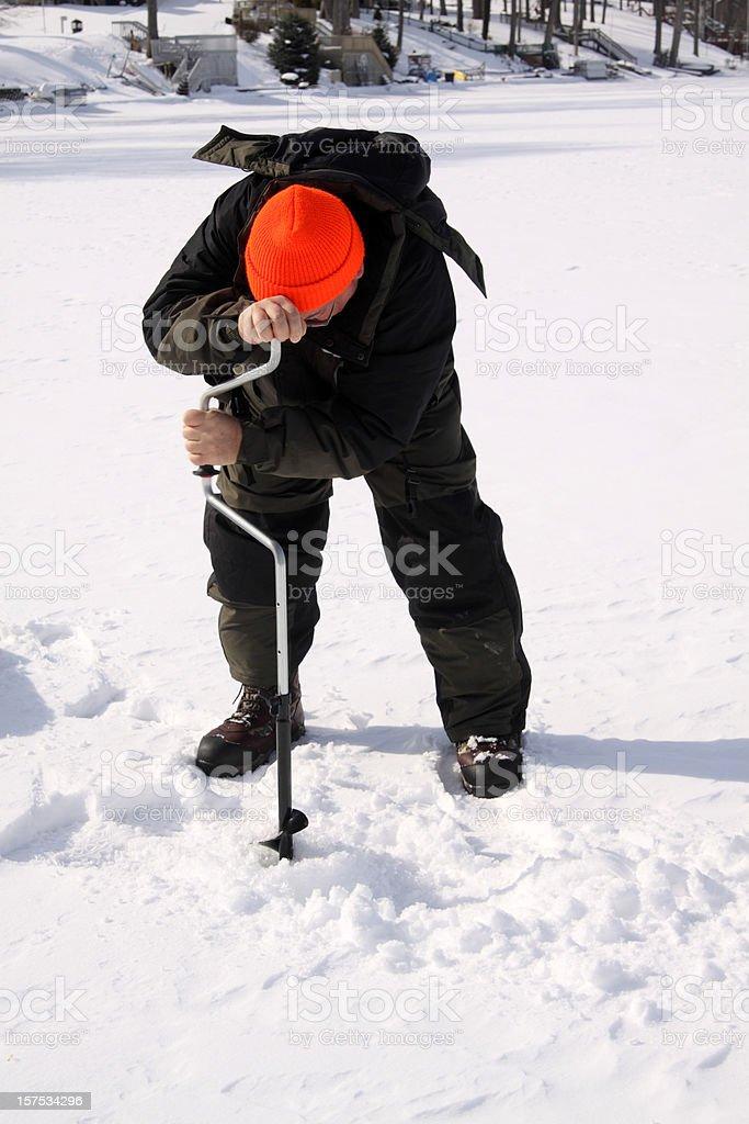 Ice Fishing royalty-free stock photo