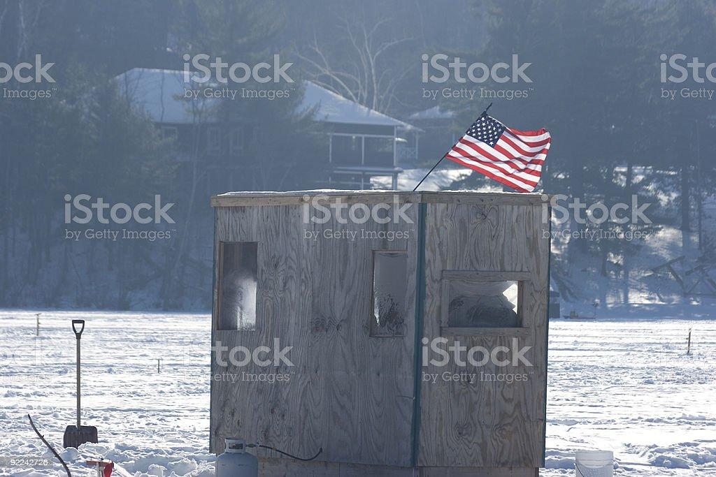 Ice Fishing Shanty royalty-free stock photo