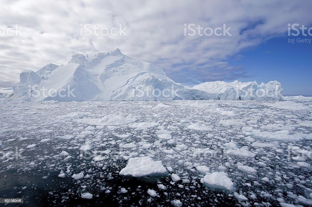 Ice fjord stock photo