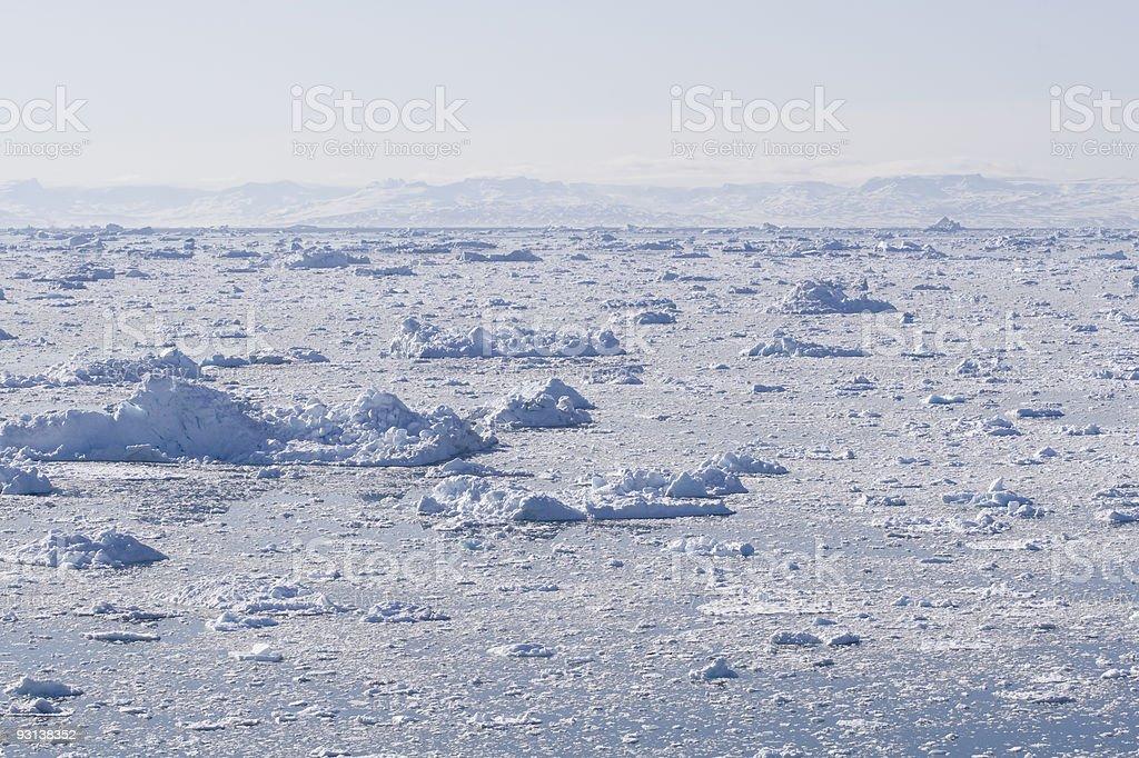 Ice fjord royalty-free stock photo