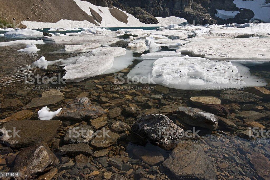 Ice Floating on Iceberg Lake royalty-free stock photo