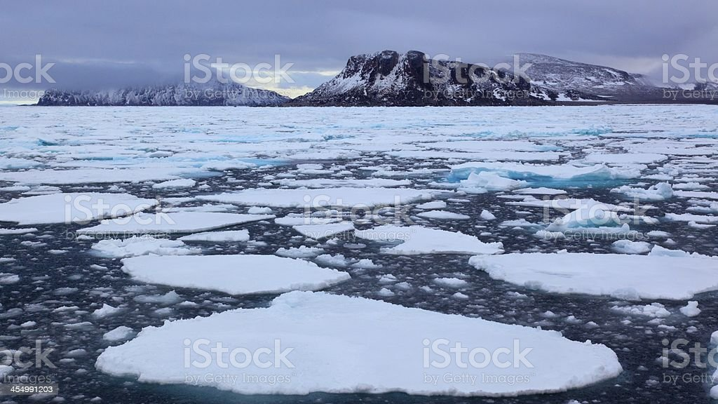 ice floe stock photo