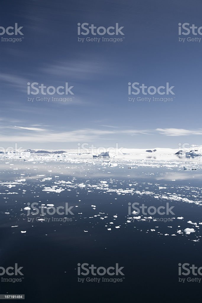 Ice Floes Anarctica Peninsula View royalty-free stock photo