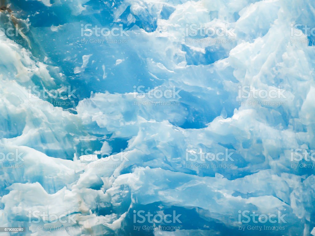 Ice flow of glacier in Tray Arm fjord Alaska. stock photo