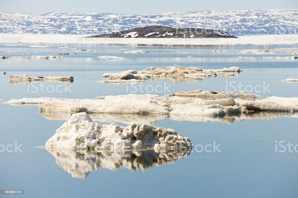 Ice Flows, Baffin Island. stock photo