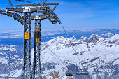 Ice Flyer chair lift on Mt. Titlis in Switzerland