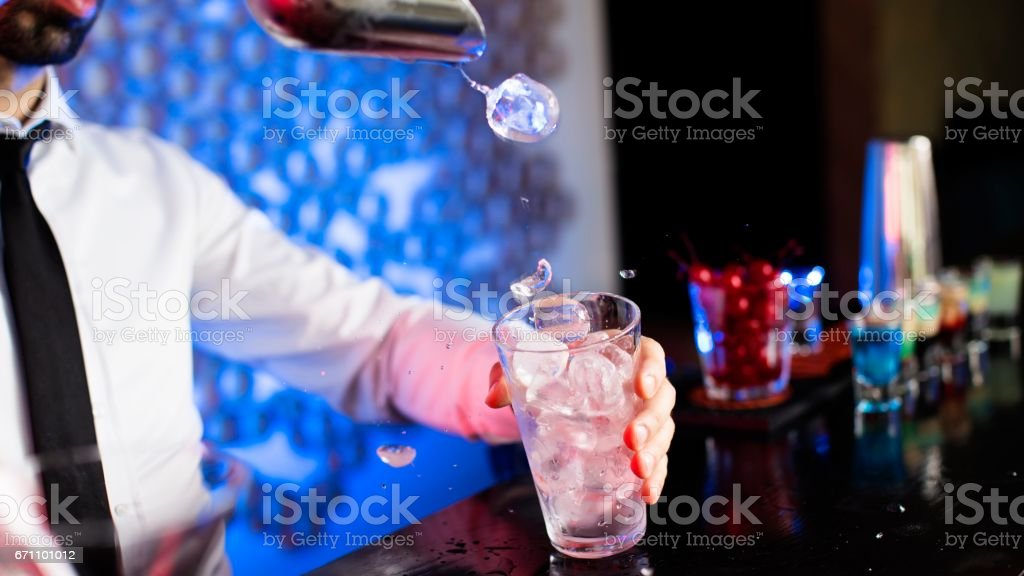 Ice for cocktail stock photo